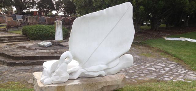 Resurrection sculpture by Antone Bruinsma - exhibited at Rookwood Cemetery, Sydney
